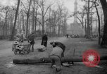 Image of cutting trees Berlin Germany, 1945, second 54 stock footage video 65675042631