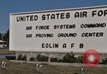 Image of Eglin Air Force Base Main Entrance Florida United States USA, 1968, second 57 stock footage video 65675042701