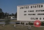 Image of Eglin Air Force Base Main Entrance Florida United States USA, 1968, second 59 stock footage video 65675042701