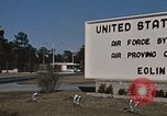 Image of Eglin Air Force Base Main Entrance Florida United States USA, 1968, second 62 stock footage video 65675042701