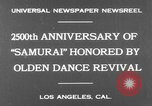 Image of Japanese sword dance Los Angeles California USA, 1930, second 5 stock footage video 65675042730