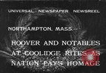 Image of Funeral of former President Calvin Coolidge Northampton Massachusetts USA, 1933, second 1 stock footage video 65675042737