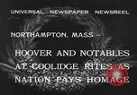 Image of Funeral of former President Calvin Coolidge Northampton Massachusetts USA, 1933, second 2 stock footage video 65675042737
