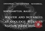Image of Funeral of former President Calvin Coolidge Northampton Massachusetts USA, 1933, second 3 stock footage video 65675042737