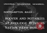Image of Funeral of former President Calvin Coolidge Northampton Massachusetts USA, 1933, second 4 stock footage video 65675042737