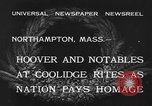 Image of Funeral of former President Calvin Coolidge Northampton Massachusetts USA, 1933, second 5 stock footage video 65675042737