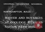 Image of Funeral of former President Calvin Coolidge Northampton Massachusetts USA, 1933, second 6 stock footage video 65675042737