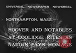 Image of Funeral of former President Calvin Coolidge Northampton Massachusetts USA, 1933, second 7 stock footage video 65675042737
