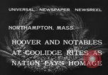 Image of Funeral of former President Calvin Coolidge Northampton Massachusetts USA, 1933, second 8 stock footage video 65675042737