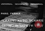 Image of non skid automobile Paris France, 1933, second 1 stock footage video 65675042744