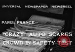 Image of non skid automobile Paris France, 1933, second 2 stock footage video 65675042744