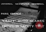 Image of non skid automobile Paris France, 1933, second 3 stock footage video 65675042744