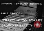 Image of non skid automobile Paris France, 1933, second 4 stock footage video 65675042744