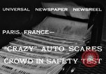 Image of non skid automobile Paris France, 1933, second 5 stock footage video 65675042744