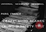 Image of non skid automobile Paris France, 1933, second 7 stock footage video 65675042744