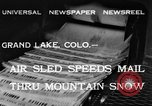 Image of air sled Colorado United States USA, 1933, second 1 stock footage video 65675042745