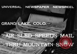 Image of air sled Colorado United States USA, 1933, second 2 stock footage video 65675042745