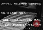 Image of air sled Colorado United States USA, 1933, second 5 stock footage video 65675042745