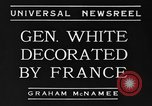 Image of General White France, 1934, second 1 stock footage video 65675042759