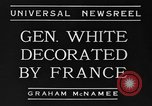 Image of General White France, 1934, second 3 stock footage video 65675042759