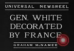 Image of General White France, 1934, second 4 stock footage video 65675042759