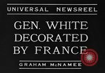 Image of General White France, 1934, second 7 stock footage video 65675042759