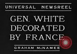 Image of General White France, 1934, second 8 stock footage video 65675042759