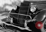 Image of bumper of a car Springfield Massachusetts USA, 1935, second 3 stock footage video 65675042766