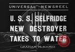 Image of United States Selfridge destroyer Camden New Jersey USA, 1936, second 6 stock footage video 65675042781