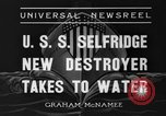 Image of United States Selfridge destroyer Camden New Jersey USA, 1936, second 7 stock footage video 65675042781