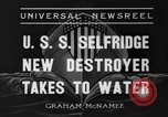 Image of United States Selfridge destroyer Camden New Jersey USA, 1936, second 12 stock footage video 65675042781