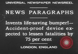 Image of life saving car bumper invention London England United Kingdom, 1930, second 1 stock footage video 65675042803