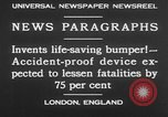 Image of life saving car bumper invention London England United Kingdom, 1930, second 10 stock footage video 65675042803