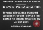 Image of life saving car bumper invention London England United Kingdom, 1930, second 11 stock footage video 65675042803