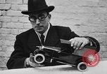 Image of life saving car bumper invention London England United Kingdom, 1930, second 16 stock footage video 65675042803