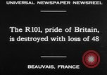 Image of British airship R101 Beauvais France, 1930, second 21 stock footage video 65675042806