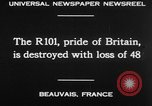 Image of British airship R101 Beauvais France, 1930, second 23 stock footage video 65675042806