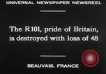 Image of British airship R101 Beauvais France, 1930, second 24 stock footage video 65675042806