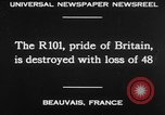 Image of British airship R101 Beauvais France, 1930, second 25 stock footage video 65675042806