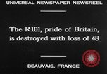 Image of British airship R101 Beauvais France, 1930, second 26 stock footage video 65675042806
