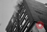 Image of building on fire Chicago Illinois USA, 1930, second 27 stock footage video 65675042807