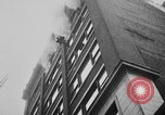 Image of building on fire Chicago Illinois USA, 1930, second 32 stock footage video 65675042807