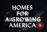 Image of suburban 1950s American homes Lafayette Indiana USA, 1958, second 3 stock footage video 65675042908