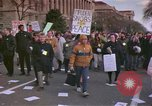Image of Peace demonstrators protest Vietnam War Washington DC USA, 1969, second 1 stock footage video 65675042915