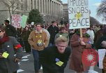 Image of Peace demonstrators protest Vietnam War Washington DC USA, 1969, second 4 stock footage video 65675042915