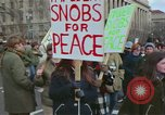 Image of Peace demonstrators protest Vietnam War Washington DC USA, 1969, second 12 stock footage video 65675042915