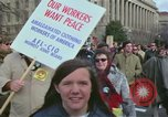 Image of Peace demonstrators protest Vietnam War Washington DC USA, 1969, second 16 stock footage video 65675042915