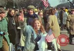 Image of Peace demonstrators protest Vietnam War Washington DC USA, 1969, second 45 stock footage video 65675042915
