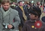 Image of Peace demonstrators protest Vietnam War Washington DC USA, 1969, second 59 stock footage video 65675042915