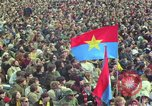 Image of Peace activists march against Vietnam War Washington DC USA, 1969, second 30 stock footage video 65675042916